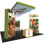 Fusion 20' x 20' Tension Fabric Trade Show Island [Kit 9]