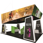 Fusion 20' x 20' Tension Fabric Trade Show Island [Kit 11]
