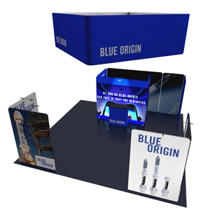Enterprise 20X20 Tension Fabric Trade Show Exhibit Kit [Complete]