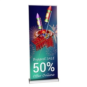 Excalibur Double-Sided Retractable Banner Stand [Graphics Only]