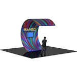 Formulate Curved Multimedia Surf-Wall Tension Fabric Display