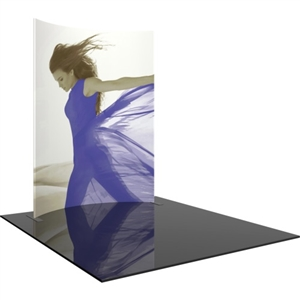 Formulate 8ft Horizontal Curve 10ft Tall Backwall Tension Fabric Display [Graphics Only]