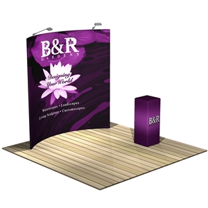 Formulate 8ft Horizontal Curve Backwall Tension Fabric Display [Kit]