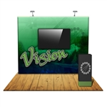 Vision 10 FT Straight Fabric Trade Show Display with Monitor Mount [KIT]