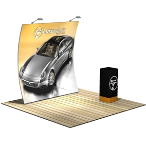 Formulate 8ft Vertical Curve Backwall Tension Fabric Display [Kit]