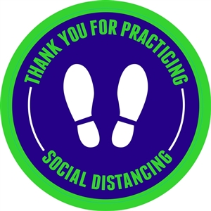 "Social Distancing Adhesive Floor Decals - 12"" x 12"""