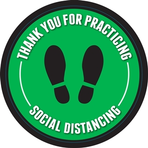 "Social Distancing Adhesive Floor Decals - 24"" x 24"""