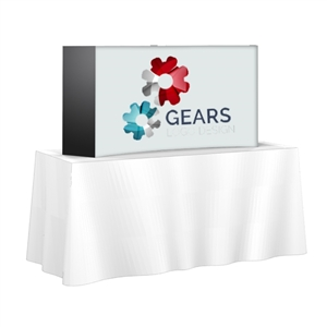 5FT Wide Tabletop Pop Up Custom Printed Video Backdrop Display