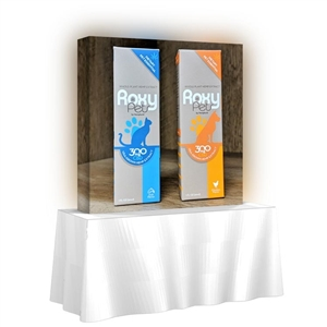 Backlit HopUp 5 ft (2x2) Straight Tension Fabric Display
