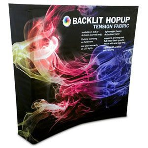 Backlit HopUp 8 ft (3x3) Curved Tension Fabric Display [Replacement Graphics]
