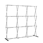 HopUp 8 ft (3x3) Straight Tension Fabric Display [Hardware Only]