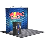 HopUp 10 ft (4x3) Curved Tension Fabric Display [Kit]
