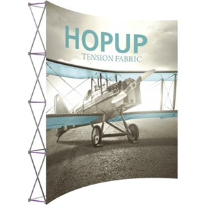 HopUp 10 ft Curved  Extra Tall Tension Fabric Display [Graphic Only]