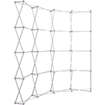 HopUp 10 ft Curved Extra Tall Tension Fabric Display [Hardware Only]