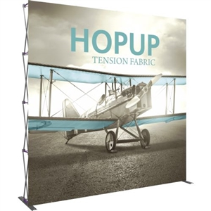 HopUp 10 ft Straight Extra Tall Tension Fabric Display [Graphic Only]