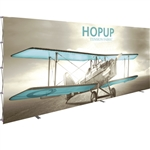 HopUp 20 ft Straight Extra Tall Tension Fabric Display [Graphic Only]