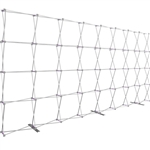 HopUp 20 ft Straight Extra Tall Tension Fabric Display [Hardware Only]
