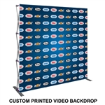 8FT Wide Pop Up Custom Printed Video Backdrop Display