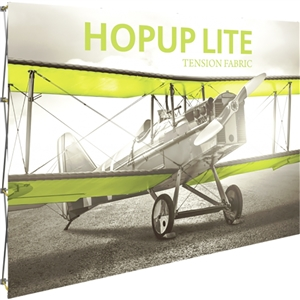 HopUp Lite 10ft Straight Tension Fabric Display