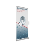 Bannitizer Automatic Hand Sanitizer Dispenser Banner Stand