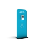 Hanz Automatic Hand Sanitizer Dispenser Banner Stand - Stock Colors