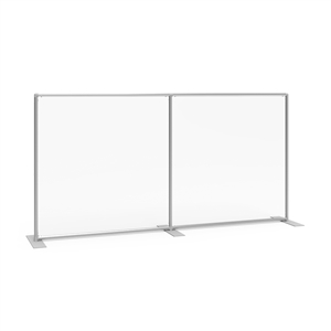 Sneeze Guard Wall 92w x 47h Clear Plexiglass Panel