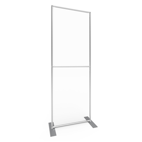 Sneeze Guard Wall 33w x 92h Clear Plexiglass Panel