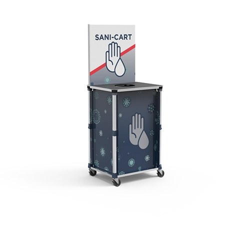 Portable PopUp Sani Cart - Mini