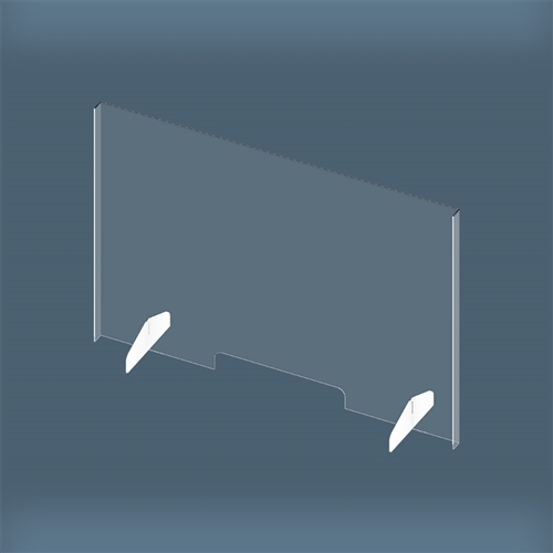 Clear Acrylic Plexiglass Sneeze Guard Plastic Barrier