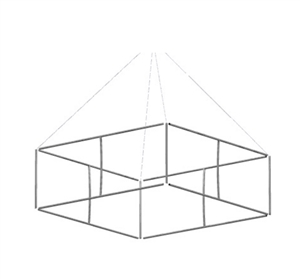 16 x 4 Formulate Master 3D Hanging Structures Square [Hardware Only]