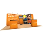 Waveline 20ft Modular Serpentine Trade Show Display with Standroid [Kit]