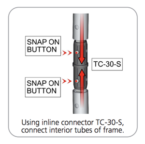 TC-30-S Junction for 30MM Tubing [Hardware]