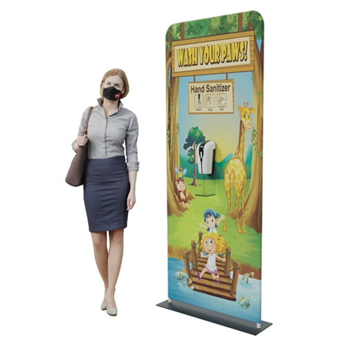 "Automatic Hand Sanitizer Dispenser Banner Stand - 24"" x 78"""
