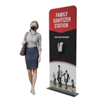 "Automatic Hand Sanitizer Dispenser Banner Stand - 36"" x 78"""