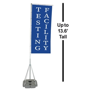 13.6' Outdoor Curbside Flag