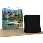 Waveline 8 ft Curved Tension Fabric Backwall Display [Kit]