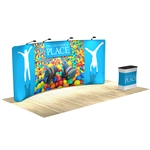 Waveline 20 ft Curved Tension Fabric Backwall Display [Kit]