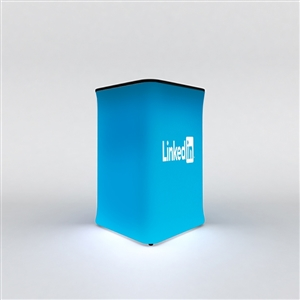 WaveLight Air Backlit Inflatable Square Tradeshow Counter [Graphics Only]