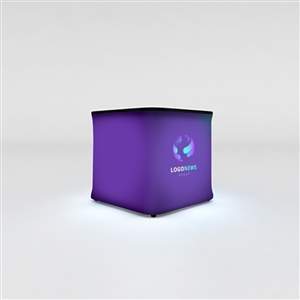 WaveLight Air Backlit Inflatable Square Tradeshow Mini Counter [Complete]