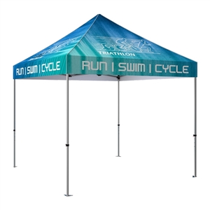 Zoom 10' x 10' Custom Printed Pop Up Tent [With Canopy]