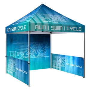 Zoom 10' x 10' Custom Printed Pop Up Tent [Backwall & Sidewall]