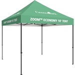 Zoom Economy 10' x 10' Custom Printed Pop Up Tent [With Canopy]