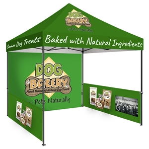 Zoom Economy 10' x 10' Custom Printed Pop Up Tent [Backwall & Sidewall]