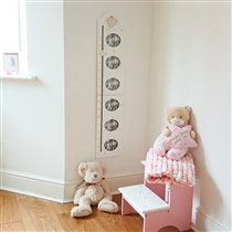 Wooden Unicorn Height Chart with Photos & Magnetic Slider (x12)