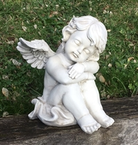 26cm Sitting Cherub Asleep on Arms (x4)