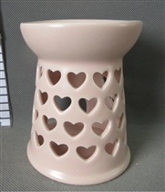 Blush Pink Hearts Wax Melter / Oil Burner<p>DUE SEPTEMBER (x27)