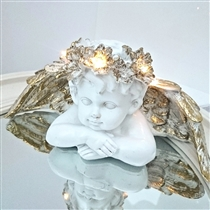 25% OFF - LED Cherub Head on Arms 25cm (x12)