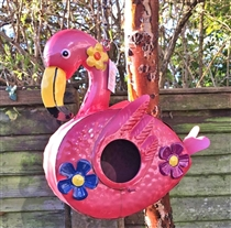 Flamingo Metal Birdhouse (x18)