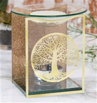 Gold Tree Of Life Glass Wax Melter / Oil Burner (x24)