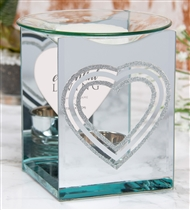 Silver Heart Photo Frame Wax Melter / Oil Burner (x24)